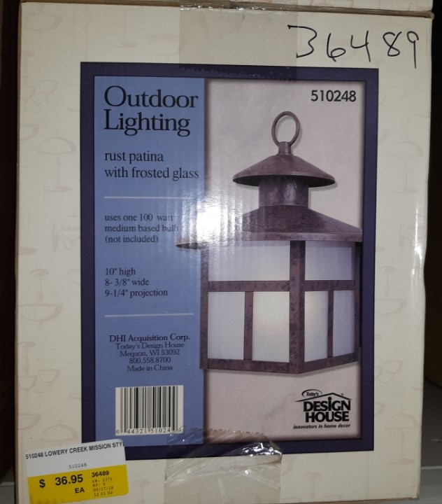 Design House 510248 Lowrey Creek Mission Exterior Light