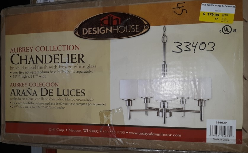 Design House 556639 Aubrey Chandelier