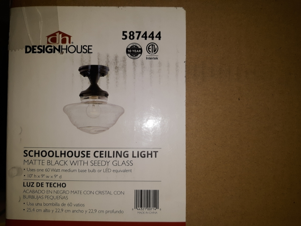 Design House 587444 Schoolhouse Ceiling Light