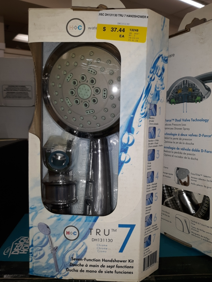 Danze Hot-Cold DH131130 Tru 7 Hand Shower