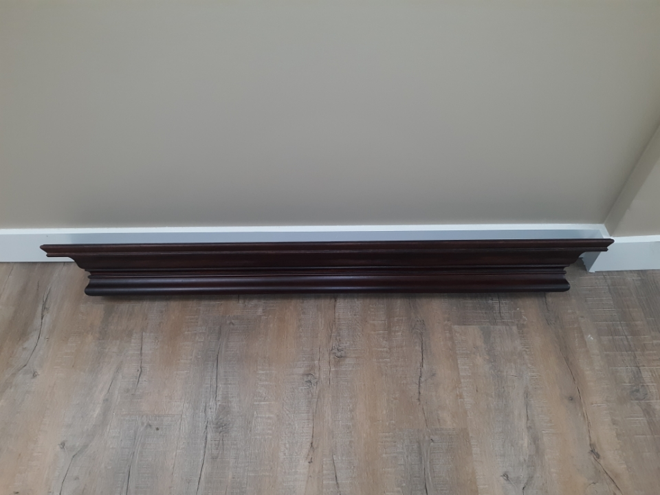 "Mount Vernon Mantel- Cressingham 60"" Shelf- Mahogany"