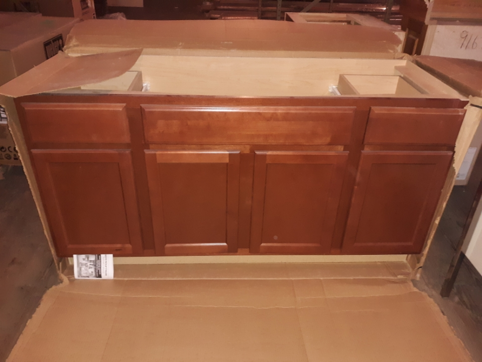 Quality Cabinets- Vanity Sink Based Tall 2 Drawer 60